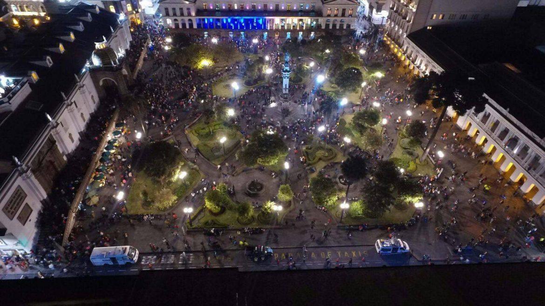 fiesta de la luz, Quito, Equateur, centre historique