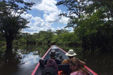 Cuyabeno, rio, canoë, lodge, pirogue à moteur, fleuve, réserve naturelle