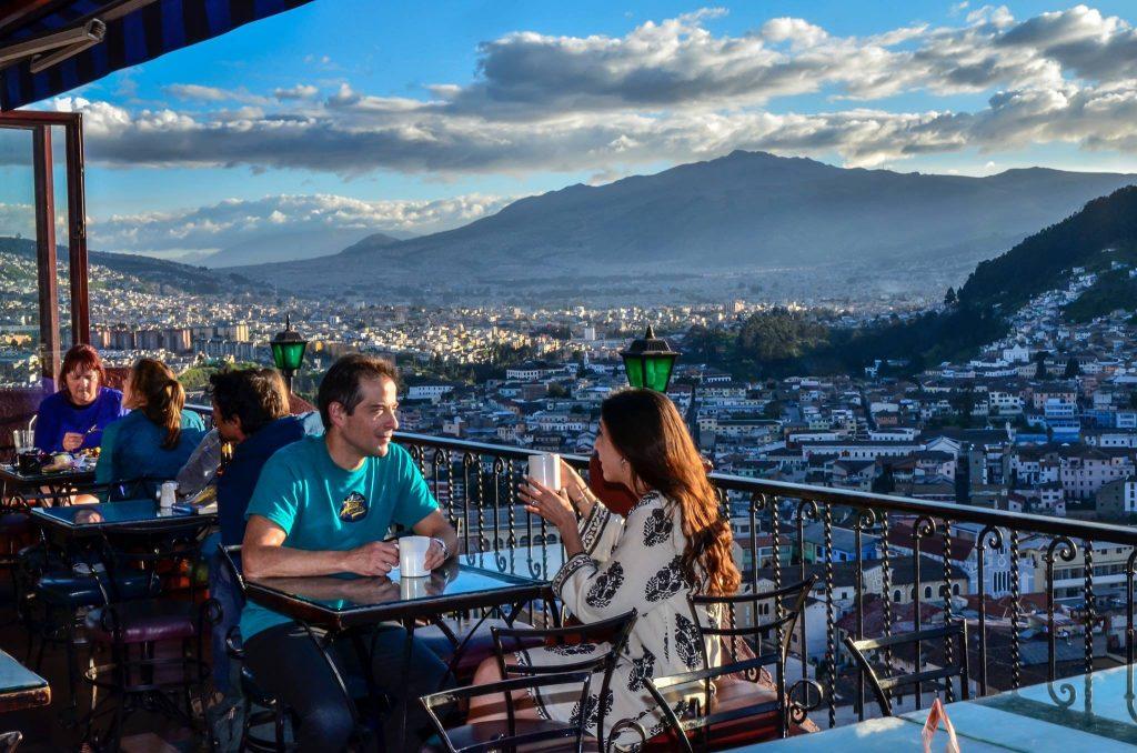 Vue terrasse Café Mosaico Quito