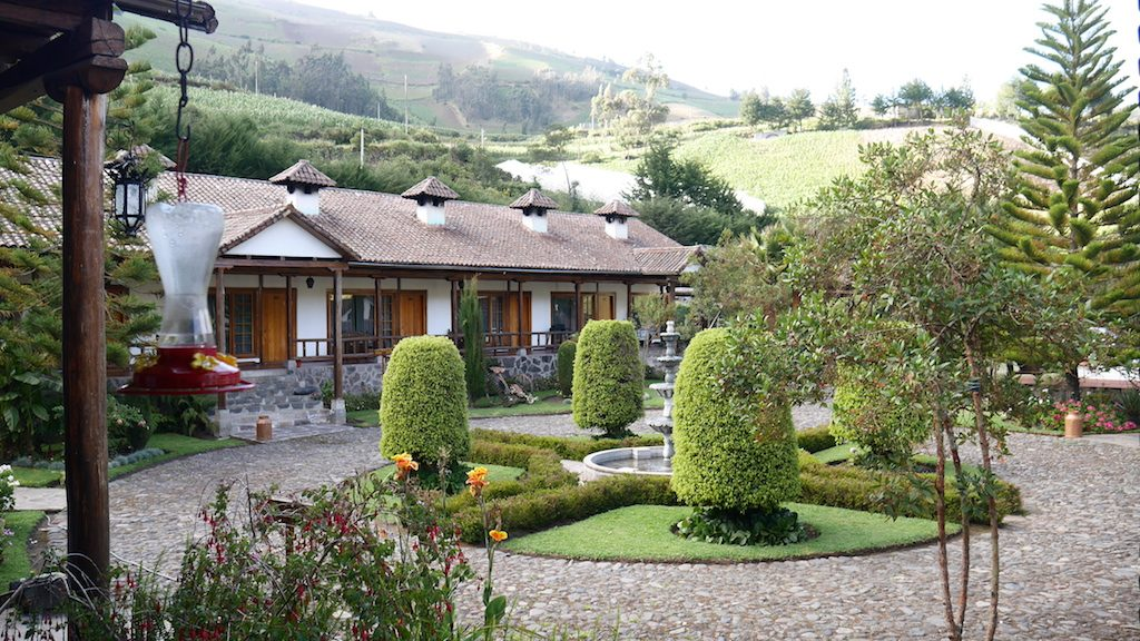 L'Hacienda Leito, près du village de Patate et de Baños