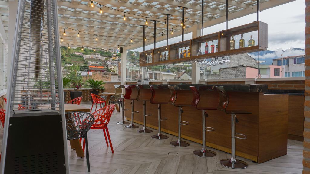 Bar en Terrasse de l'hôtel Otavalo