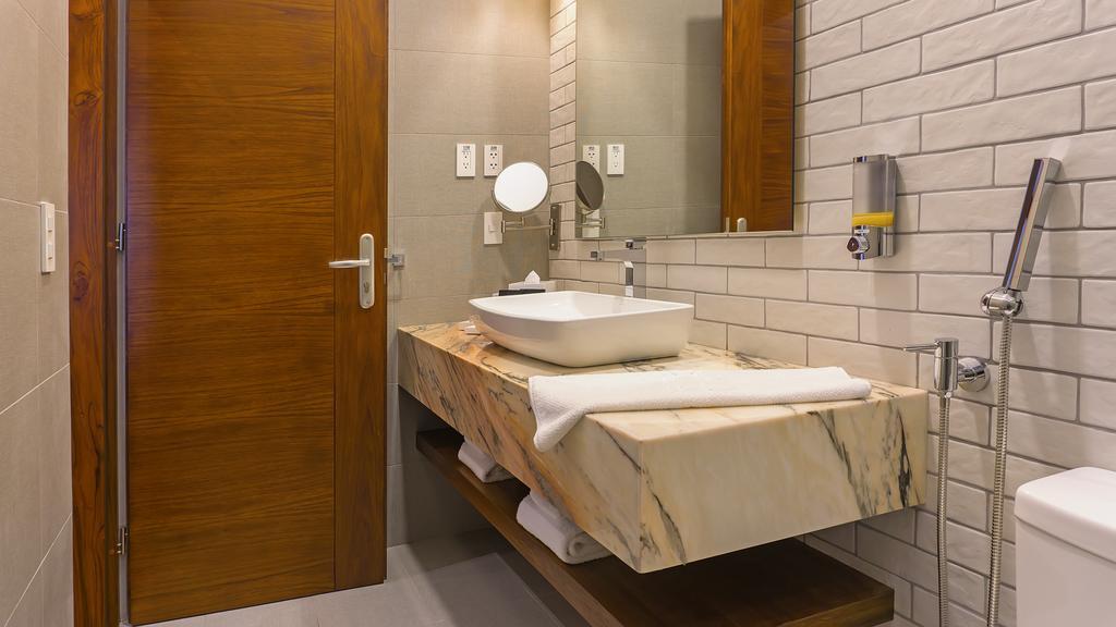 Salle de bain chambre Deluxe de l'hôtel Otavalo