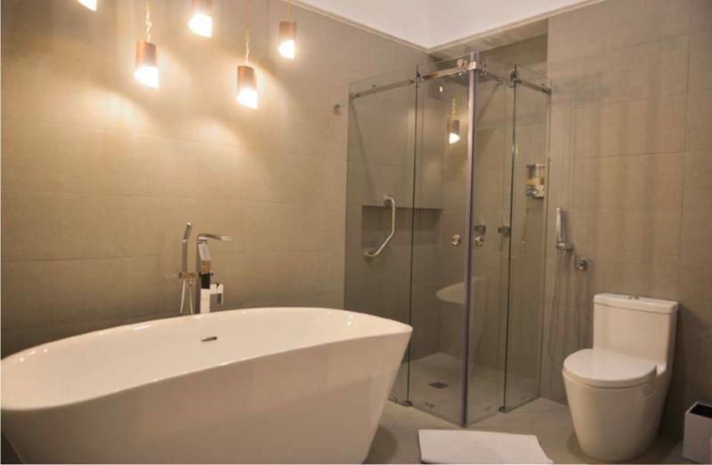 Salle de bain chambre Luxury de l'hôtel Otavalo