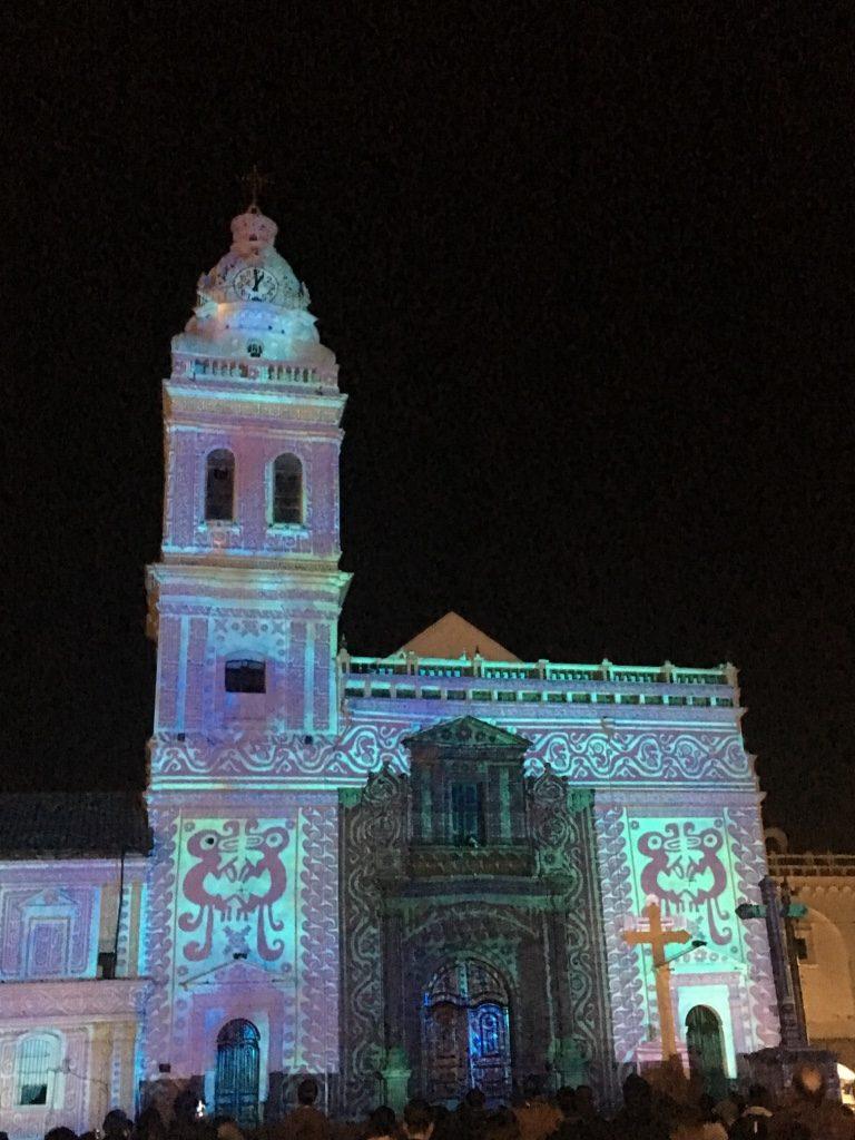 Fiesta de la luz, plaza Santo Domingo,