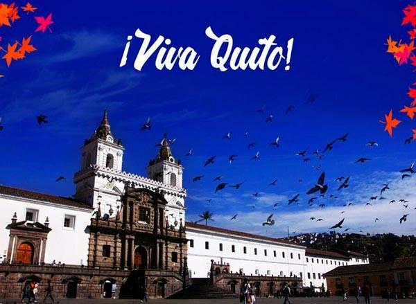 Quito fête ses 485 ans en 2019 ¡Que Viva Quito!