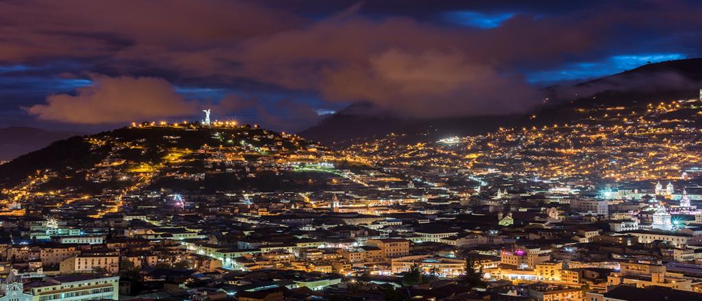 La vue dont vous pourrez profiter depuis le Café Mosaico - Panorama inégalable de Quito