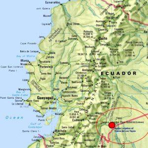 Carte de la Cueva de los Tayos