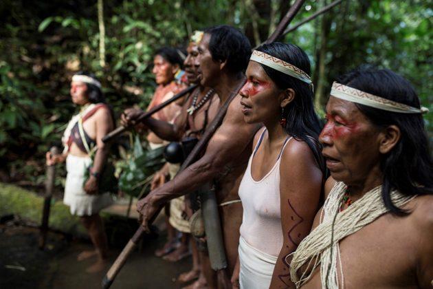 La communauté Waorani de Nemonte Nenquimo - crédit photo: Sophie Pinchetti/Amazon Frontlines