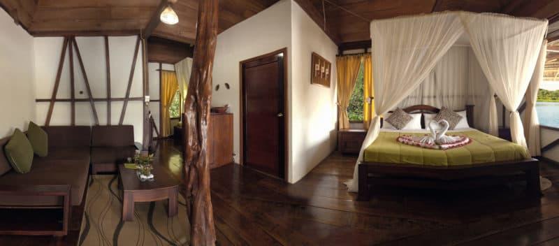 Hôtel Napo Wildlife Center Lodge situé dans le Parc National Yasuni en Amazonie primaire, Équateur, suite matrimoniale