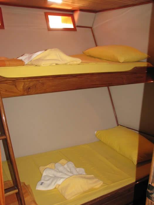 Croisière Galapagos Aida Maria, lits superposés