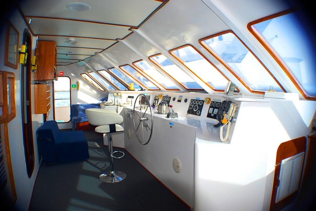 Croisière Galapagos Anahi Journey, poste de commande