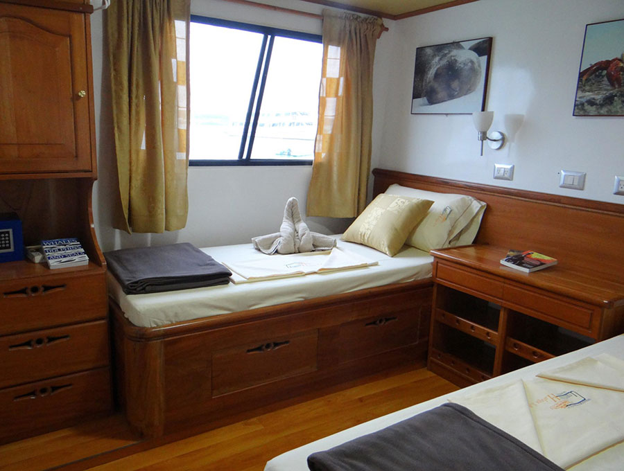 Croisière Galapagos Angelito, cabine double twin