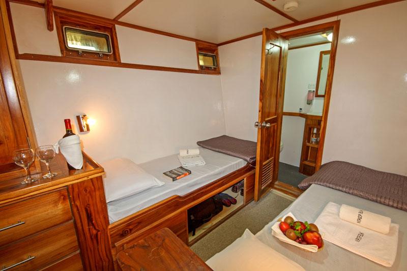 Croisière Galapagos Eden, cabine