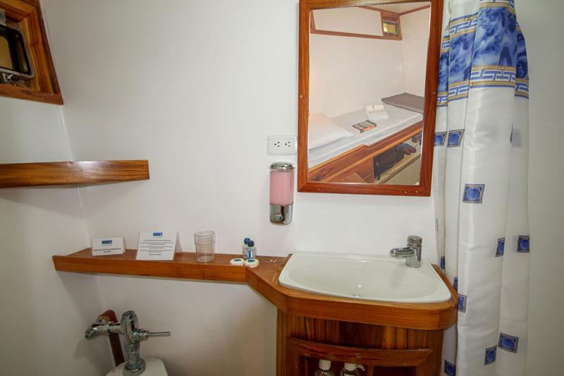 Croisière Galapagos Eden, salle de bain