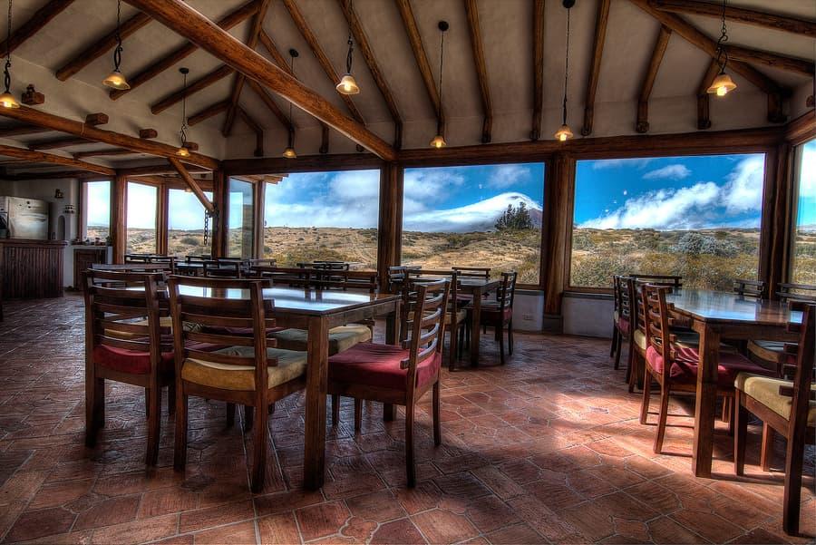 Hôtel Hacienda Los Mortiños, Parc Cotopaxi, Equateur, restaurant