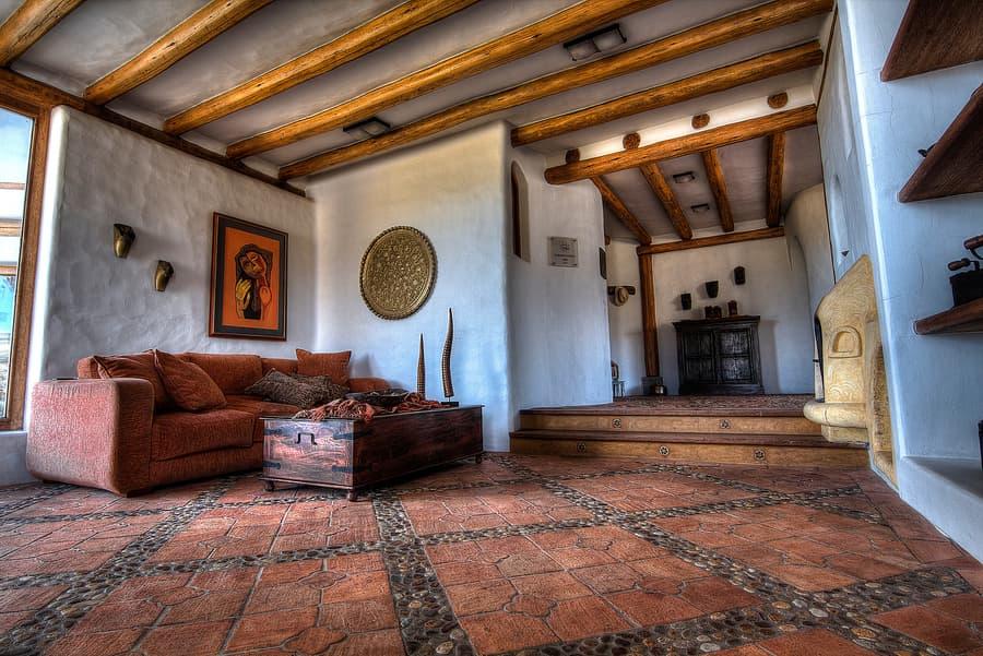 Hôtel Hacienda Los Mortiños, Parc Cotopaxi, Equateur, zone sociale commune