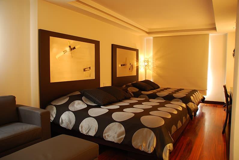 Hôtel Ikala à Quito, Equateur, suite double lits jumeaux