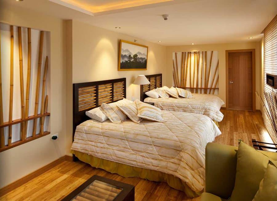 Hôtel Ikala à Quito, Equateur, suite lits jumeaux