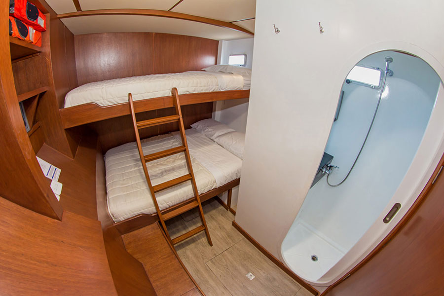 Croisière Galapagos Nemo II, cabine triple Nemo II