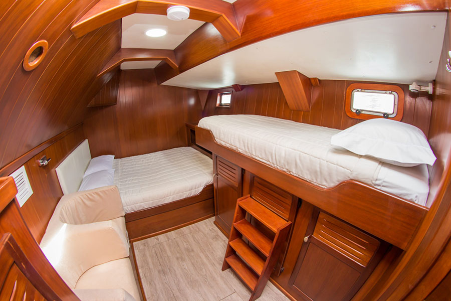 Croisière Galapagos Nemo III, cabine triple