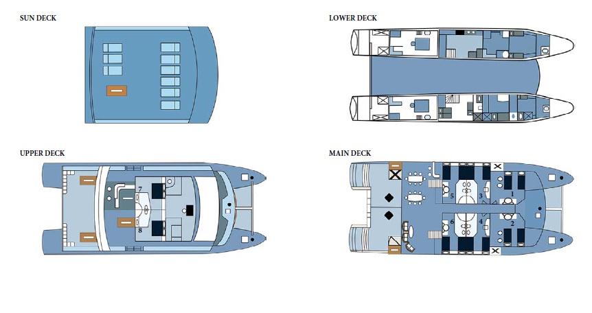 Croisière Seaman Journey Galapagos, plan