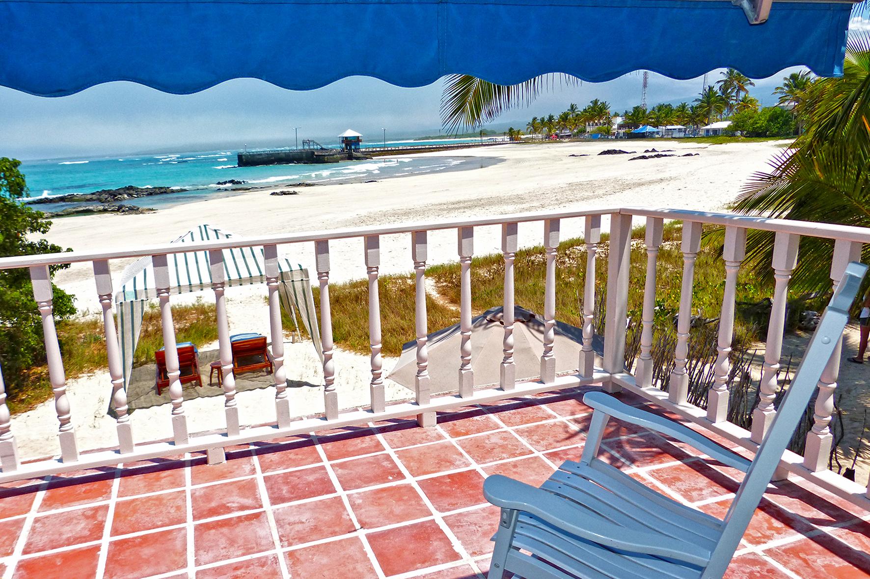 Hôtel Isabela Beach House, îles Galapagos, balcon