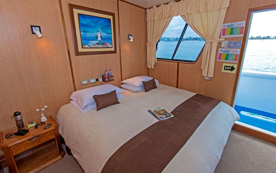Croisière Galapagos Yolita, cabine matrimoniale
