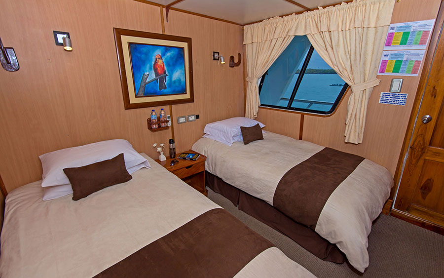 Croisière Galapagos Yolita, cabine twin