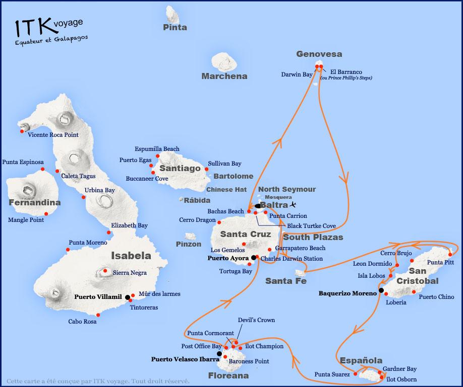 Croisière Galapagos Anahi Journey, itinéraire 8 jours B2