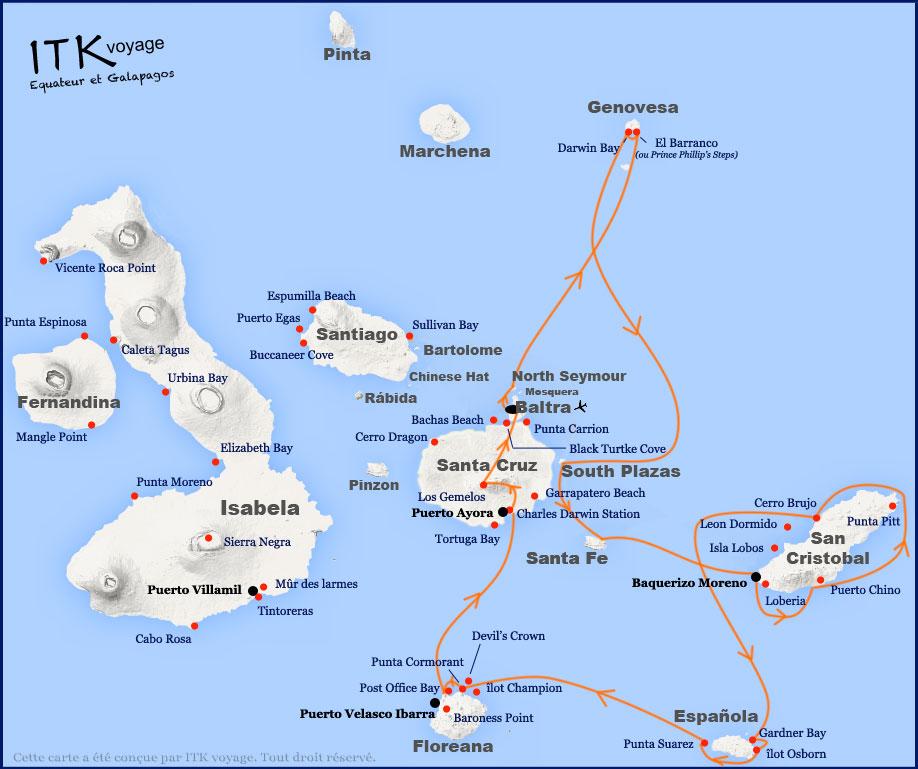 Croisière Seaman Journey Galapagos, itinéraire 8 jours C1
