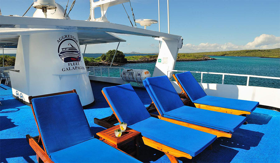 Croisière plongée Galapagos Aggressor, chaises longues
