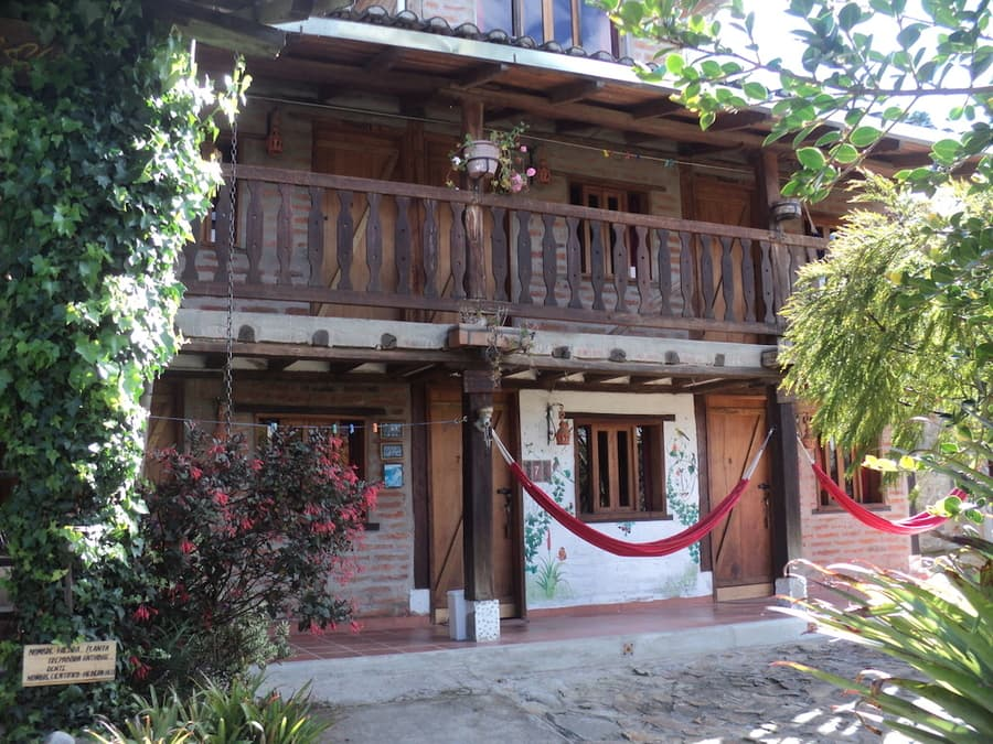 Hôtel Auberge Mama Hilda, Chugchilan près de la lagune Quilotoa, Equateur, vue extérieure