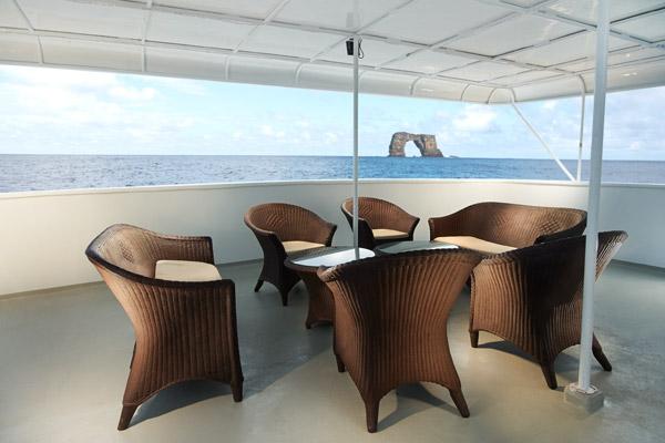 Croisière plongée Galapagos Master, terrasse