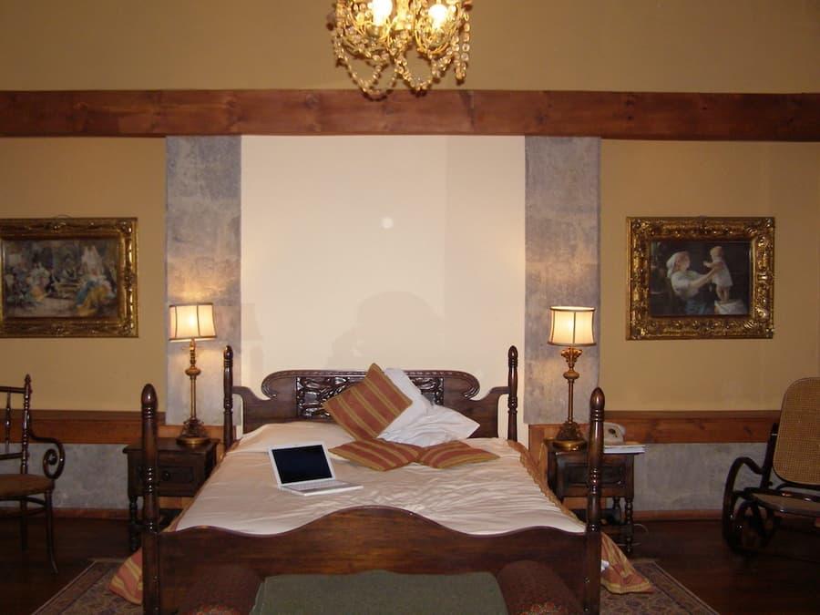 Hôtel Hacienda La Cienega, Parc Cotopaxi, Equateur, chambre matrimoniale