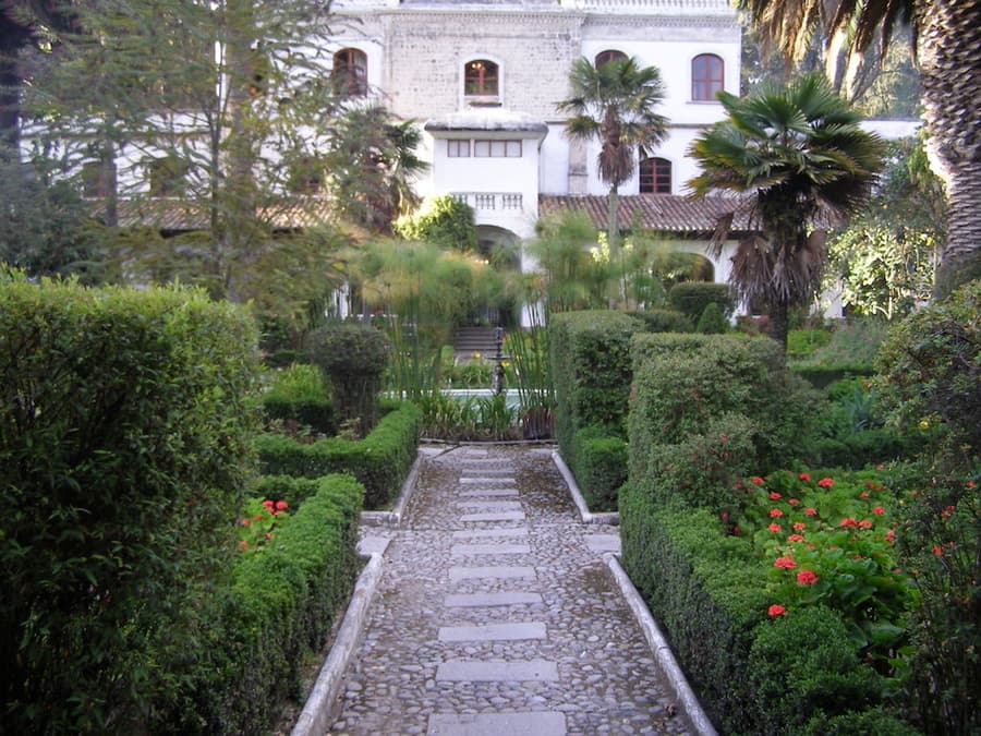 Hôtel Hacienda La Cienega, Parc Cotopaxi, Equateur, jardins