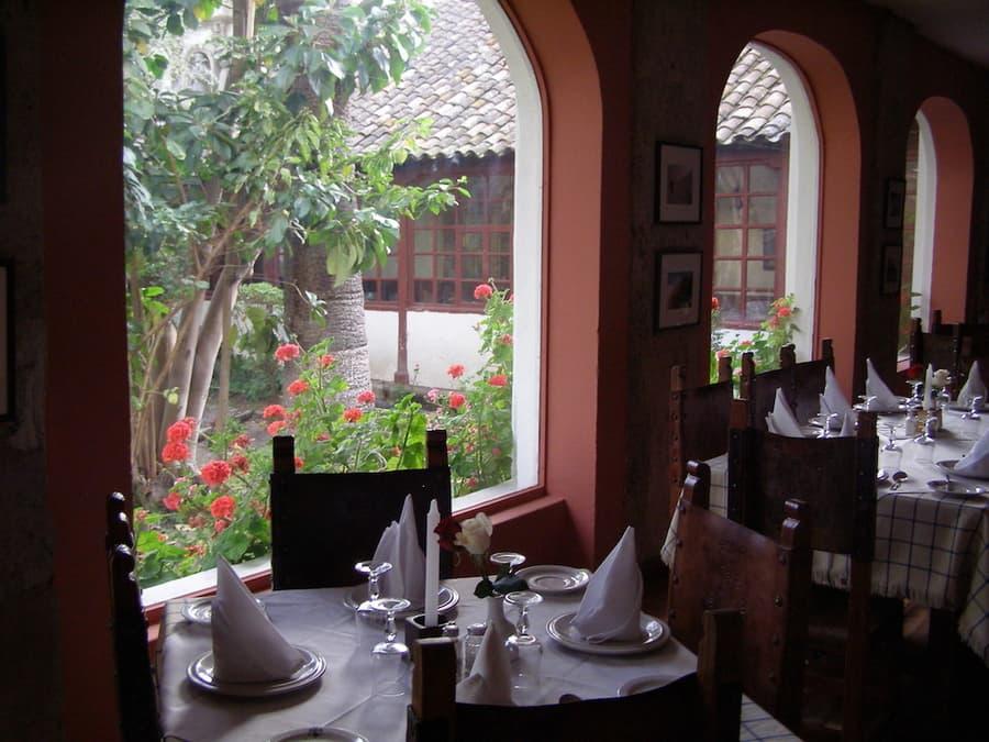 Hôtel Hacienda La Cienega, Parc Cotopaxi, Equateur, restaurant salle à manger