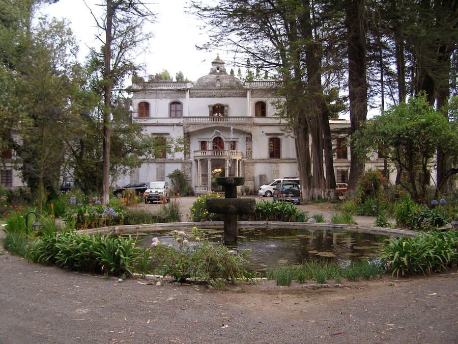 Hôtel Hacienda La Cienega, Parc Cotopaxi, Equateur, vue extérieure principale