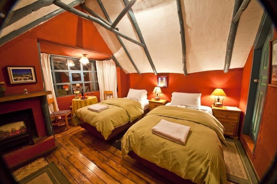 Hôtel Hacienda El Porvenir, Parc Cotopaxi, Equateur, chambre double lits jumeaux