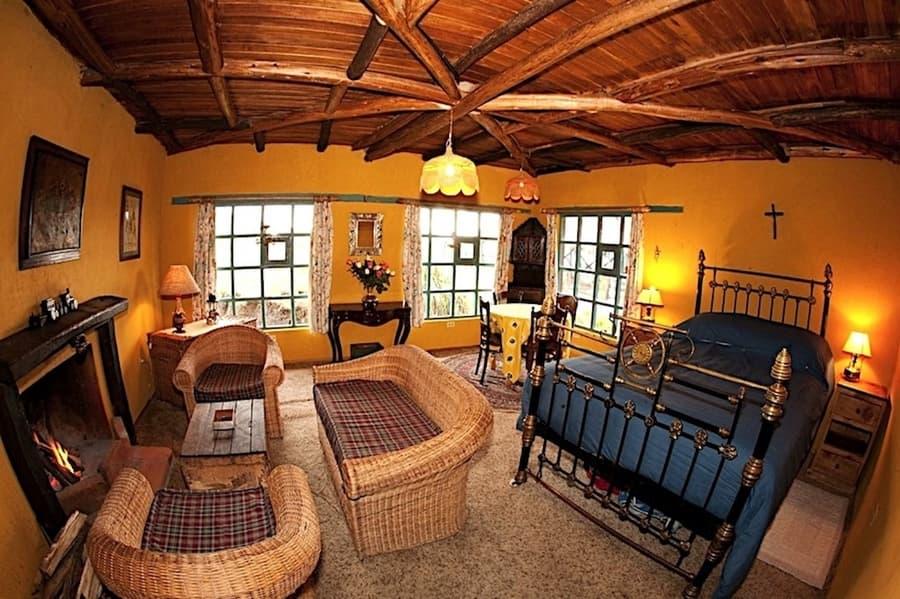 Hôtel Hacienda El Porvenir, Parc Cotopaxi, Equateur, suite matrimoniale