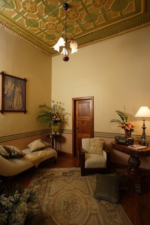 Hôtel colonial Carvallo, à Cuenca, Equateur, salon commun