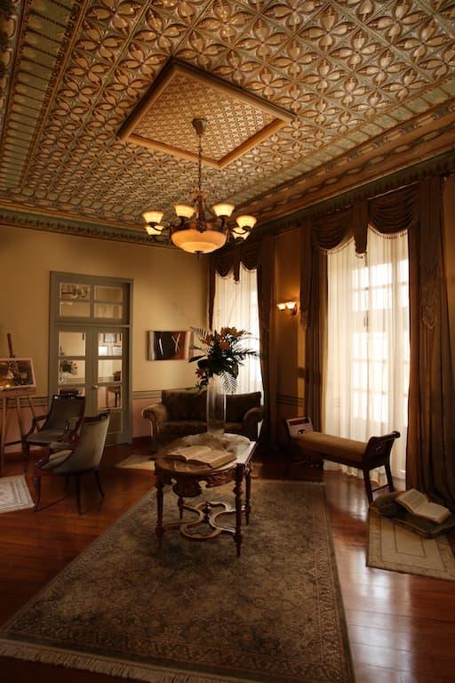 Hôtel colonial Carvallo, à Cuenca, Equateur, salon social