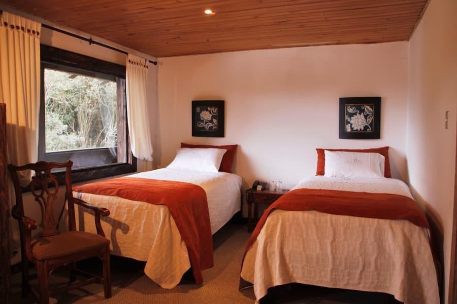 Hôtel Hacienda Dos Chorreras, à Cuenca, Equateur, chambre double lits jumeaux