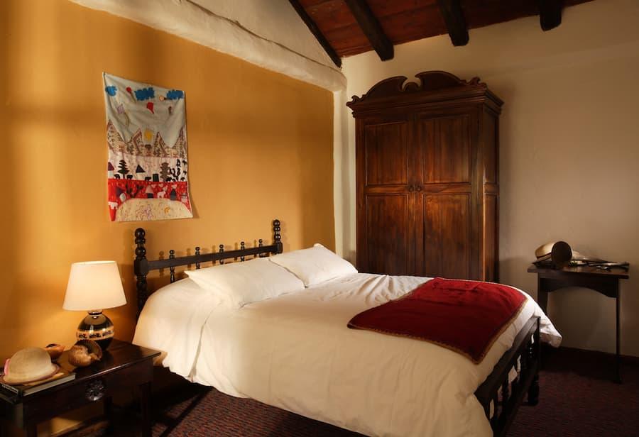 Hôtel Posada Ingapirca, près de Cuenca, Equateur, chambre double matrimoniale