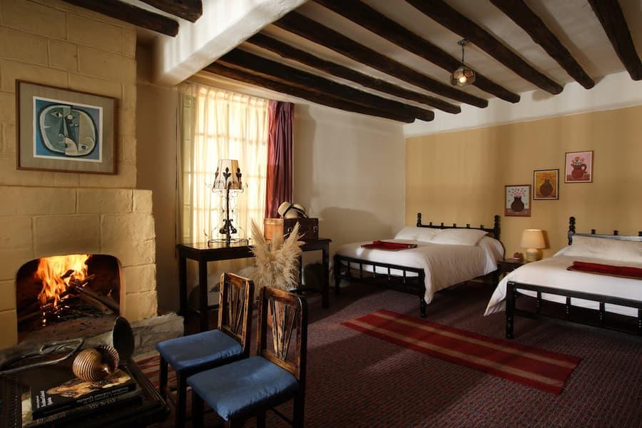 Hôtel Posada Ingapirca, près de Cuenca, Equateur, chambre double lits jumeaux
