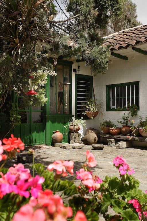 Hôtel Posada Ingapirca, près Cuenca, Equateur, jardin extérieur