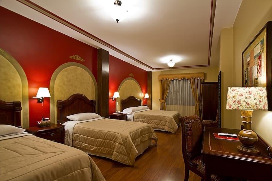 Hôtel San Juan, à Cuenca, Equateur, chambre triple