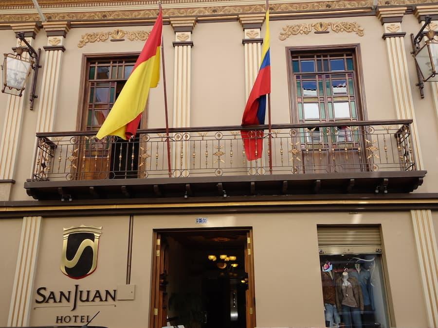 Hôtel San Juan, à Cuenca, Equateur, façade extérieure