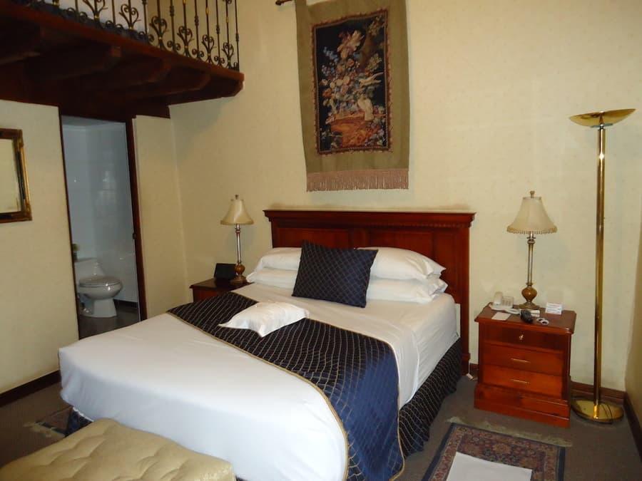 Hôtel Santa Lucia, à Cuenca, Equateur, chambre standard double matrimoniale