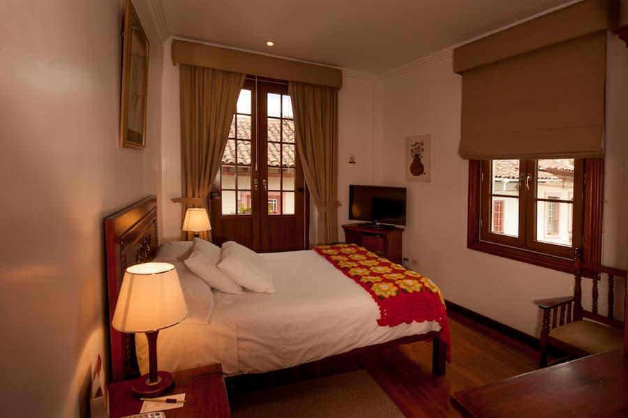 Hôtel Victoria, à Cuenca, Equateur, chambre double matrimoniale