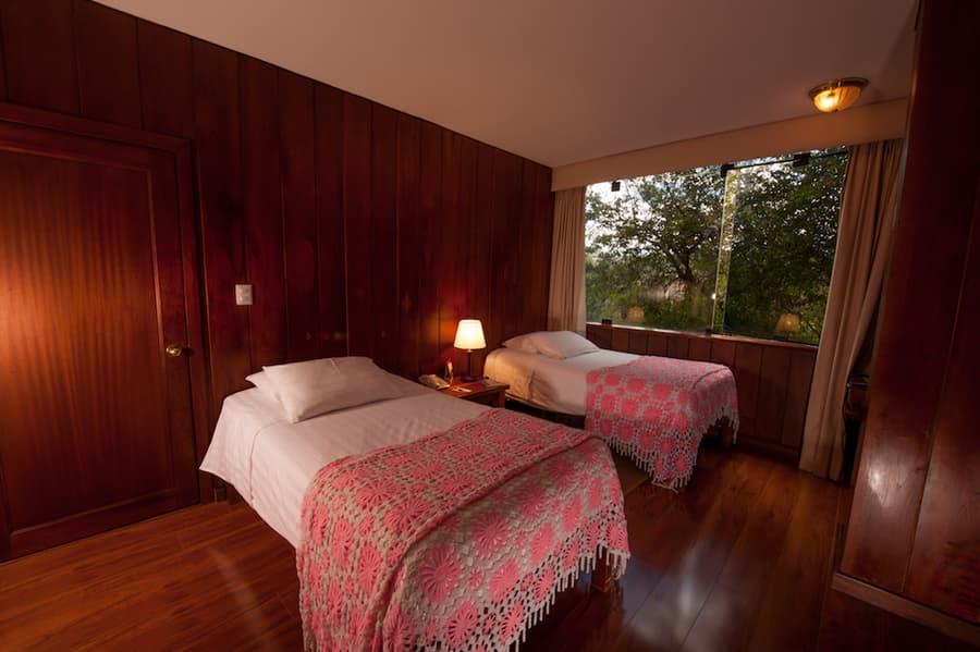Hôtel Victoria, à Cuenca, Equateur, chambre double twin lits jumeaux